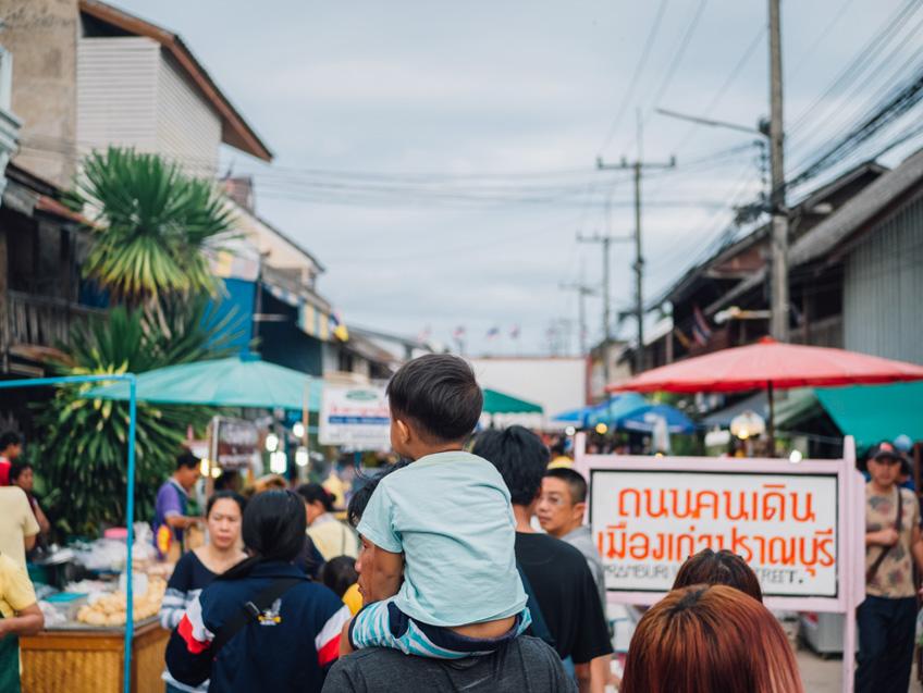 ถนนคนเดินปราณบุรี ที่เที่ยวปราณบุรี