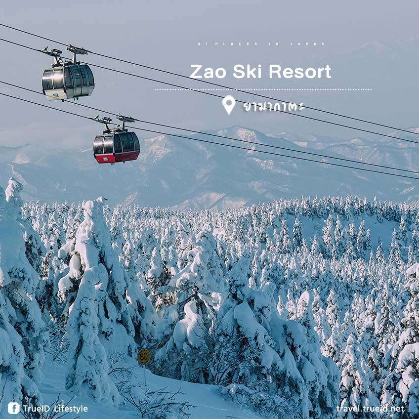 ที่เที่ยวญี่ปุ่น Zao Ski Resort