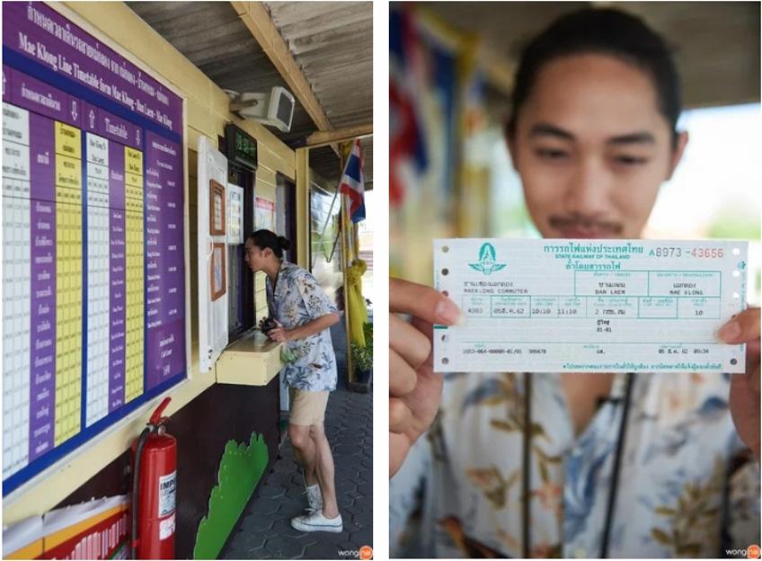 สถานีรถไฟแม่กลองเที่ยวใกล้กรุงเทพ