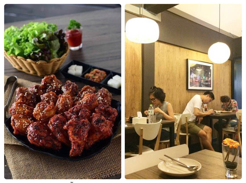 ร้านไก่ทอดเกาหลี ในกรุงเทพ อร่อย