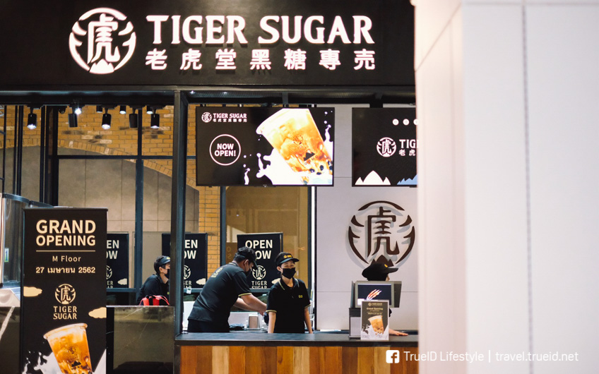 Tiger Sugar Thailand ร้านชานมไข่มุกแบรนด์ดัง จากไต้หวัน