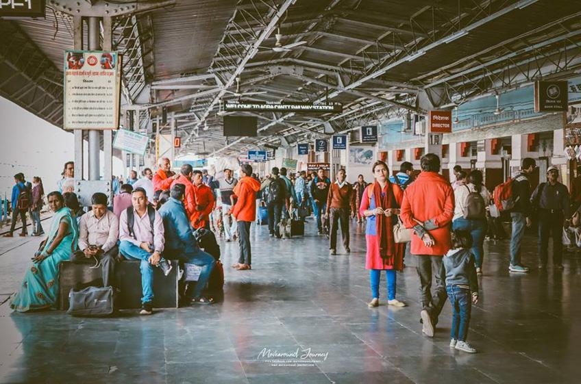 ขึ้นรถไฟที่อินเดีย