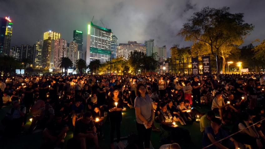 ฮ่องกง ชุมนุมวันครบรอบ 30 ปี เหตุการณ์จัตุรัสเทียนอันเหมิน