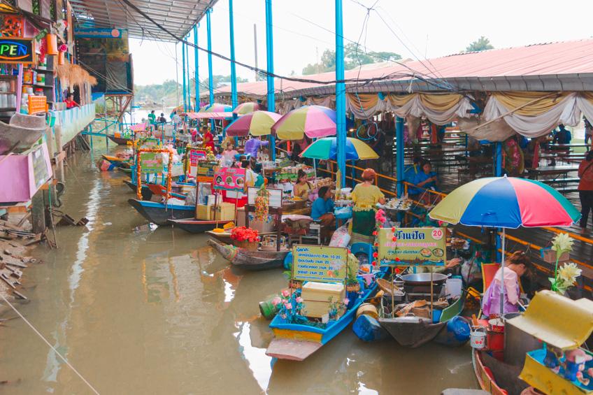 ตลาดน้ำวัดท่าการ้อง ตลาดน้ำที่อยธุยา
