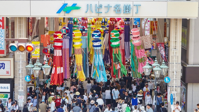 เทศกาลเซ็นได ทานาบาตะ ภูมิภาคโทโฮขุ ญี่ปุ่น