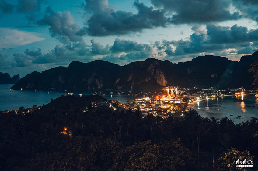 เกาะพีพี กลางคืน ที่เที่ยวสวย