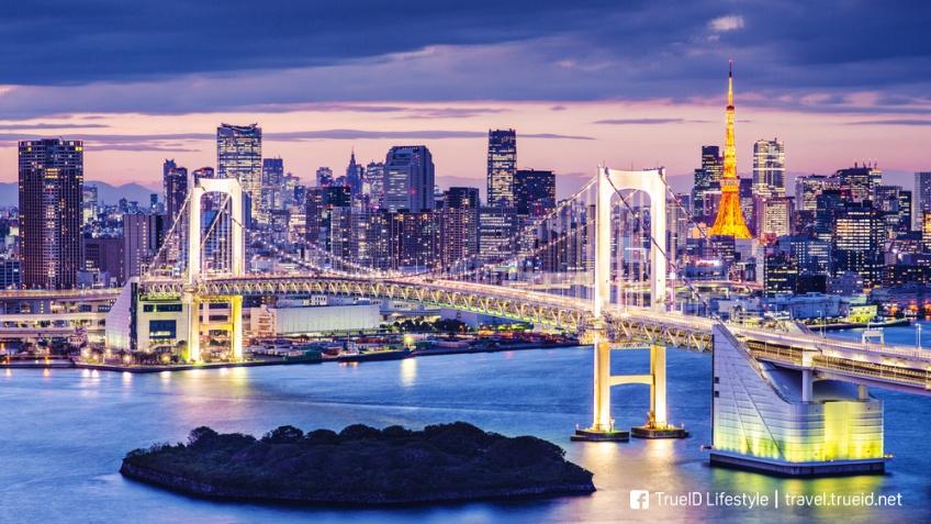 สะพาน Rainbow Bridge อ่าวโตเกียว