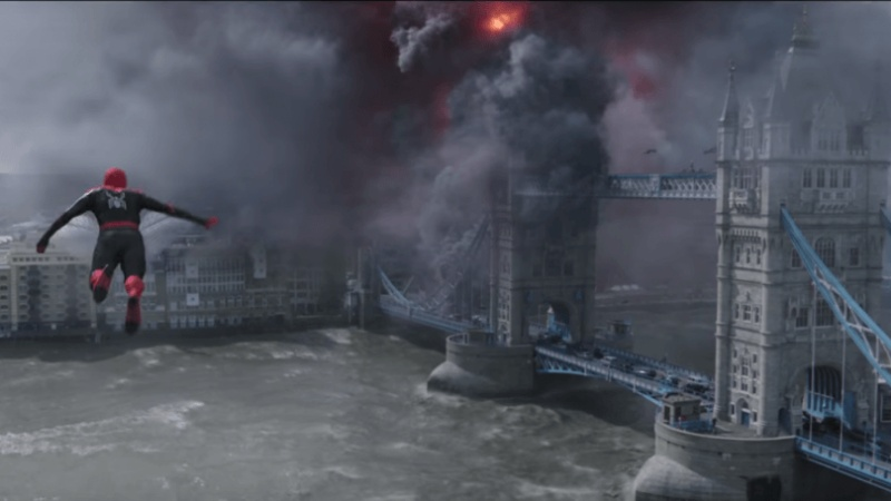 spider-man-far-from-home-Tower bridge