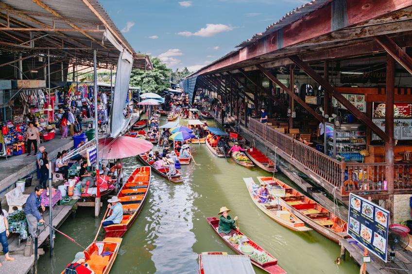 ตลาดน้ำดำเนินสะดวก ตลาดน้ำใกล้กรุงเทพ