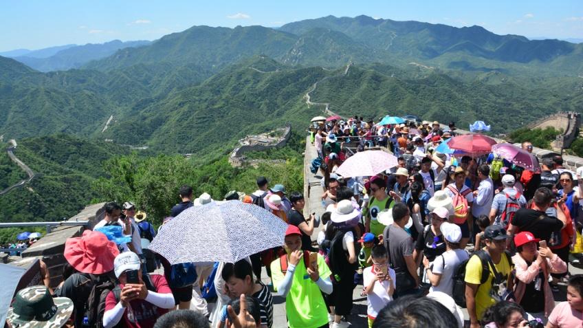 นักท่องเที่ยว กำแพงเมืองจีน