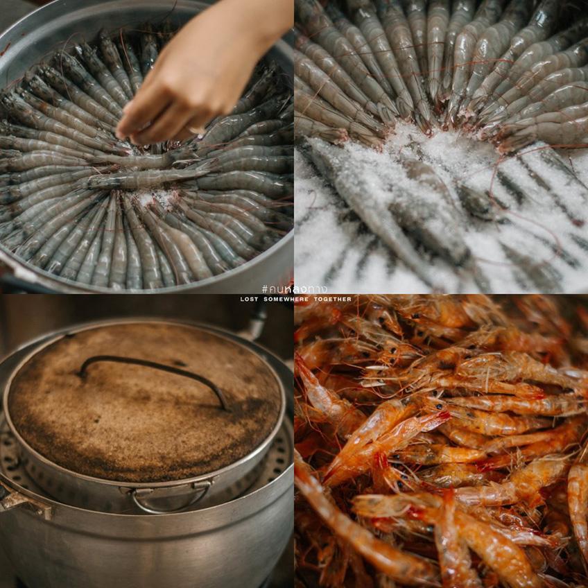 กุ้งเหยียดป้าสุนทร ร้านอาหารสมุทรปราการ
