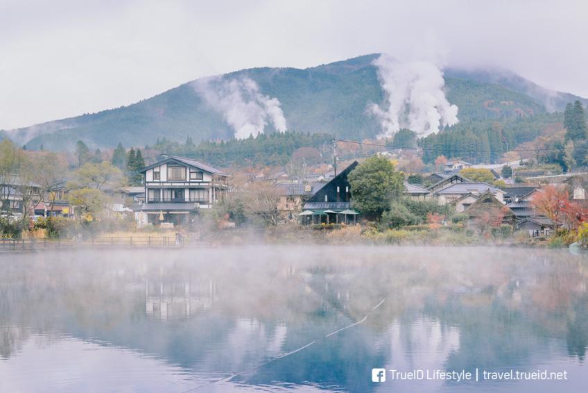 ทะเลสาบ Kinrin Lake เที่ยวญี่ปุ่น