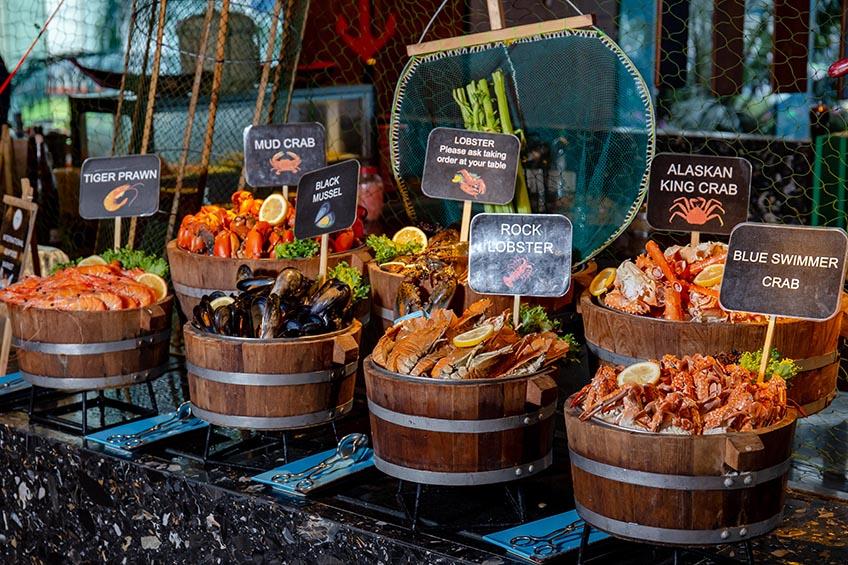 บุฟเฟ่ต์อาหารทะเล Amari