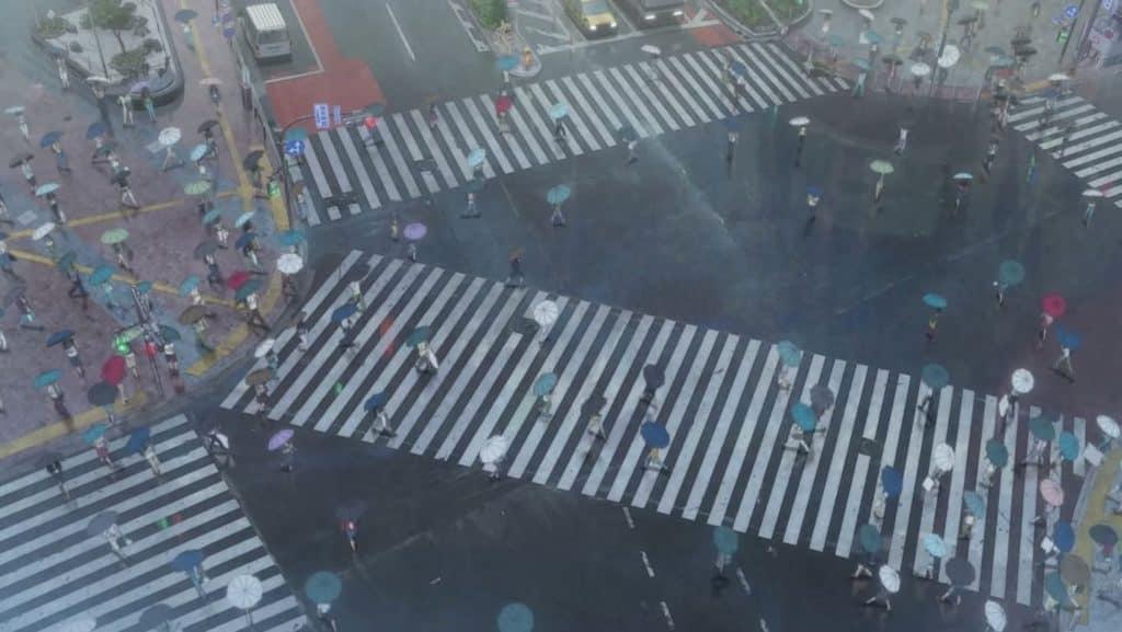 Shibuya Crossing โตเกียว weathering with you