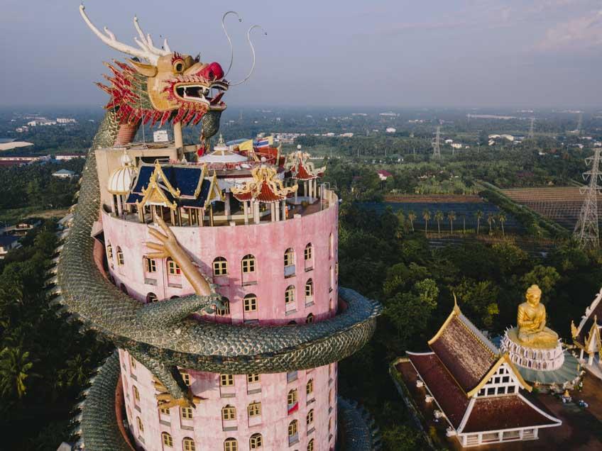 วัดสวยในไทย วัดสามพราน นครปฐม