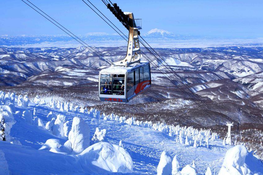 ปีศาจหิมะอันโด่งดัง เกิดจากต้นไม้มากมายบนภูเขาฮักโกดะ อาโอโมริ