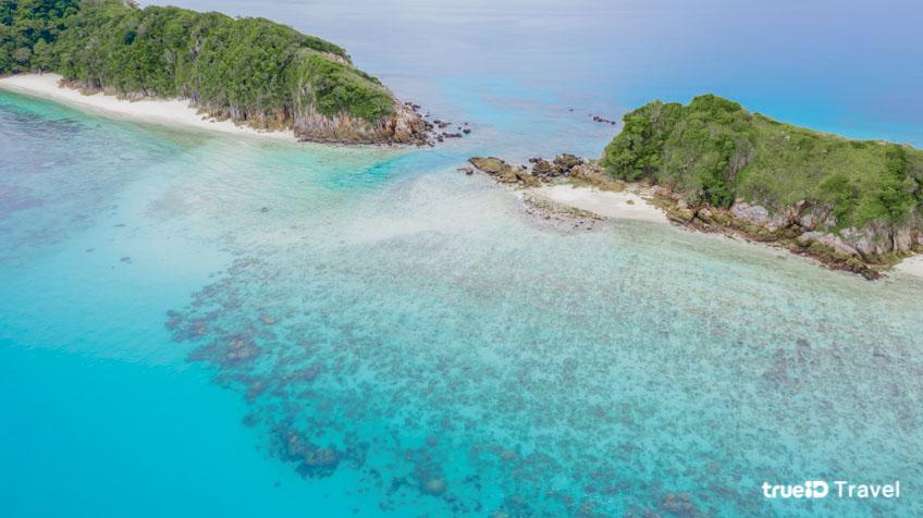 หมู่เกาะช้างเผือก Cock Burn Island  ระนอง ทะเลพม่า