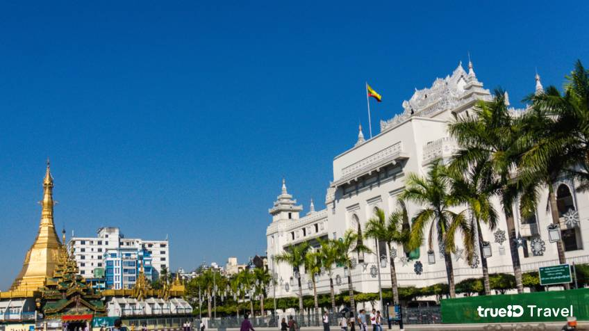 Yangon city hall ศาลากลางย่างกุ้ง