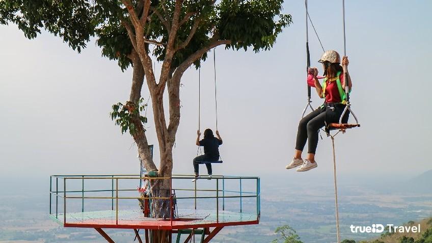 จุดชมวิวเนินมะปรางจุดชมวิวที่สวยที่สุดในพิษณุโลกนั่งชิงช้าต้นไม้