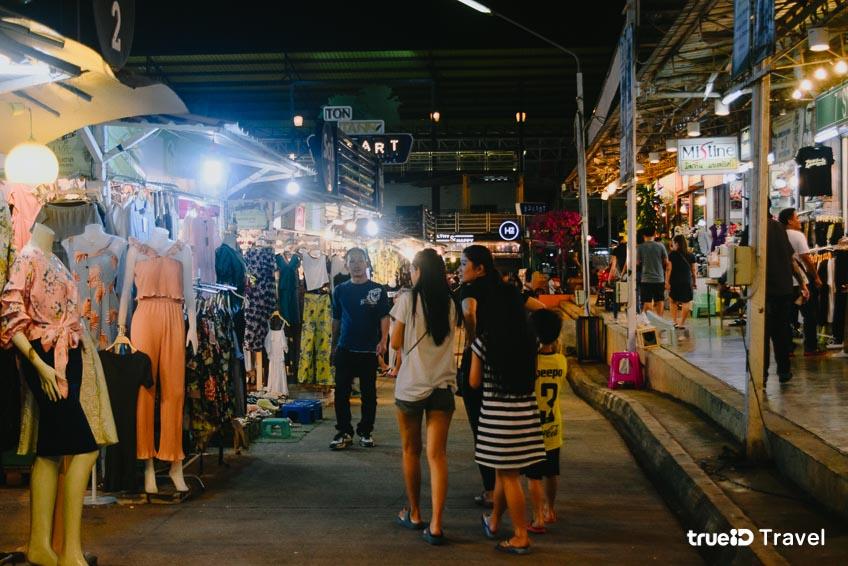 ตลาดนัดกลางคืน ตลาดต้นตาล ที่เที่ยวขอนแก่น