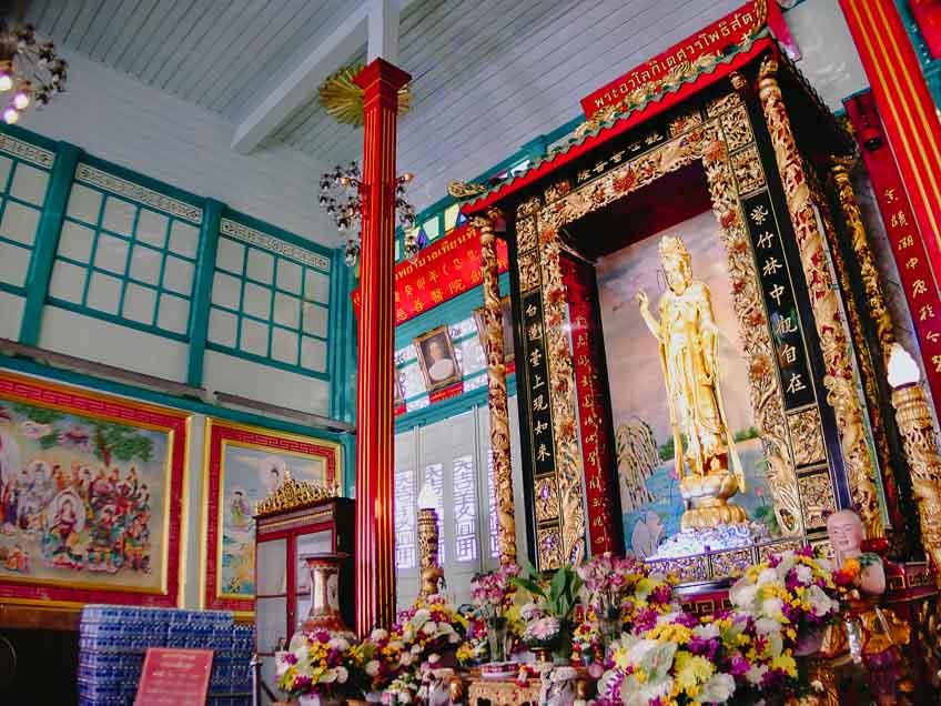 ที่เที่ยวเยาวราช ศาลเจ้าแม่กวนอิม มูลนิธิเทียนฟ้า ตรุษจีน 2564