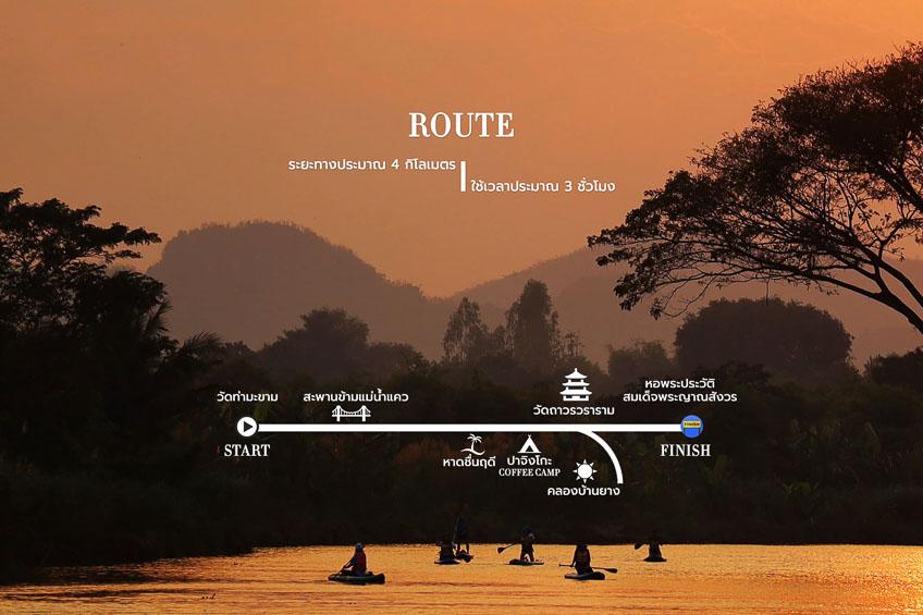 เส้นทางพาย SUP แม่น้ำแควกาญจนบุรี