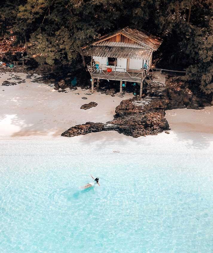 ที่พักเกาะหวาย ริมหาด ที่พักถูกติดทะเล