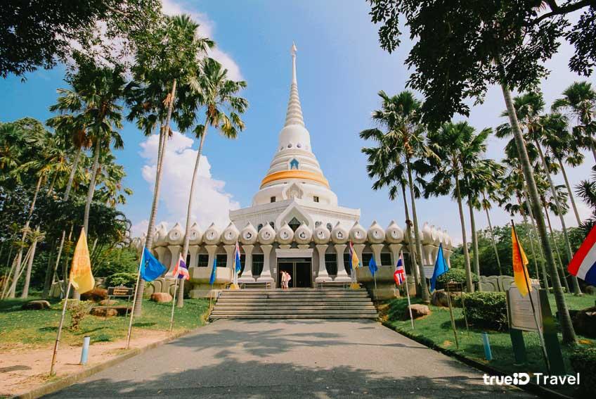 วัดสวย ที่เที่ยวชลบุรี พระบรมธาตุเจดีย์มหาจักรีพิพัฒน์