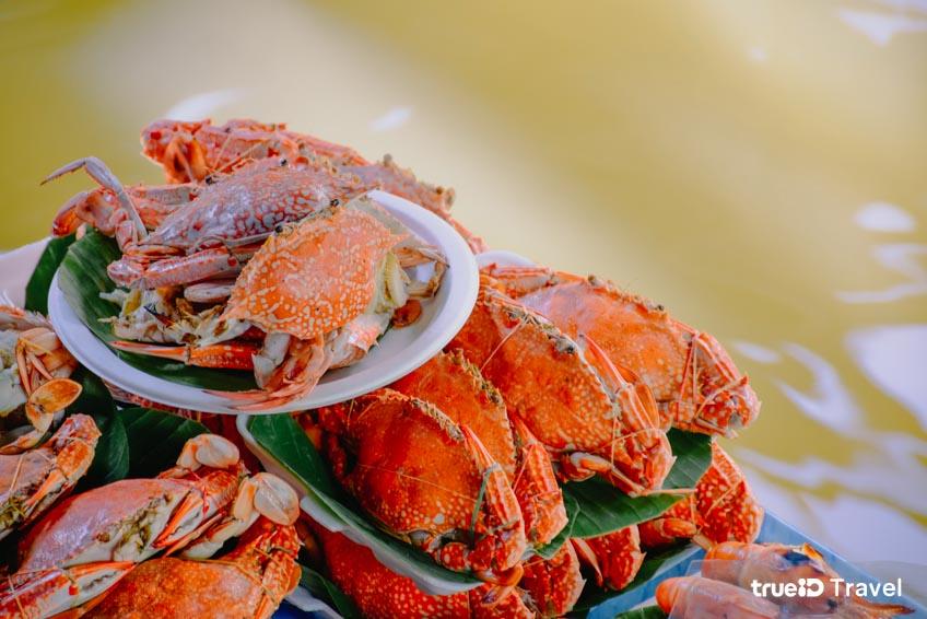 ตลาดน้ำตลิ่งชัน อาหารทะเล ที่เที่ยวกรุงเทพ