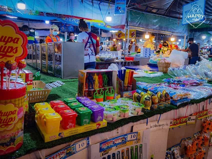 ตลาดนัดกลางคืน ที่เที่ยวใกล้กรุงเทพ