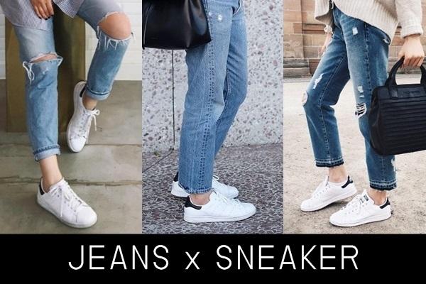 Jeans x Sneaker ไอเดียแต่ง มินิมอล ง่ายๆ ใส่สบาย แถมดูดี!