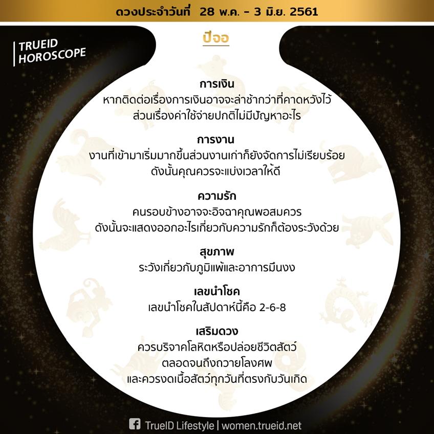 TrueID Horoscope : ดูดวงแม่นๆ ตาม 12 ปีนักษัตร รายสัปดาห์ 28 พ.ค. - 3 มิ.ย. 61 โดย อ. ต้น มนตรา จากทีวีพูล