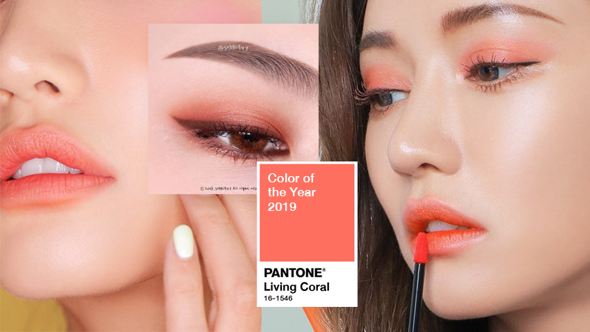 น่ารักมาก! ไอเดียแต่งหน้า โทนสี Living Coral สี Pantone 2019 สดใสย้อนวัยเว่อร์!