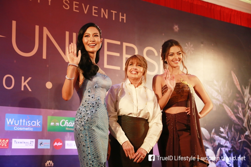 """อลังการสุด!! สาวงามผู้เข้าประกวดมิสยูนิเวิร์ส 2018 อวดโฉมชุดผ้าไหมไทยในค่ำคืน """"Thai Night"""""""