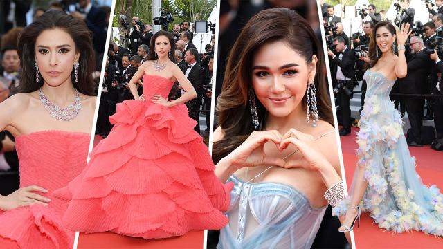 """สนนราคาชุดบนพรมแดง """"อารยา-ศรีริต้า"""" สวยฟาดหลักล้าน """"Cannes 2019"""""""