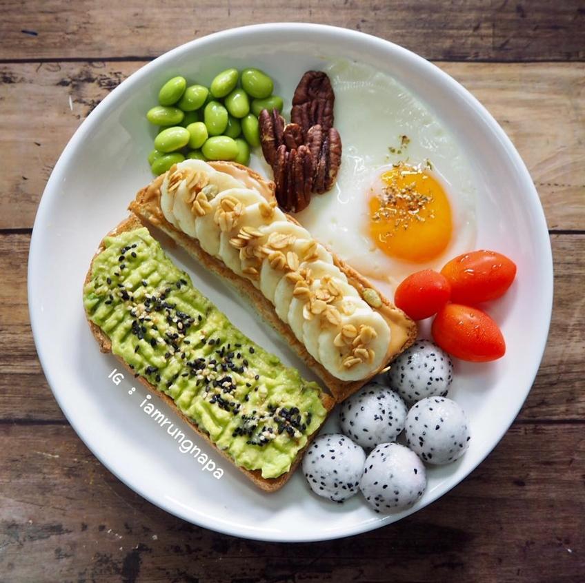 ไอเดียอาหารคลีน : ขนมปังปื้ง ไข่ดาว