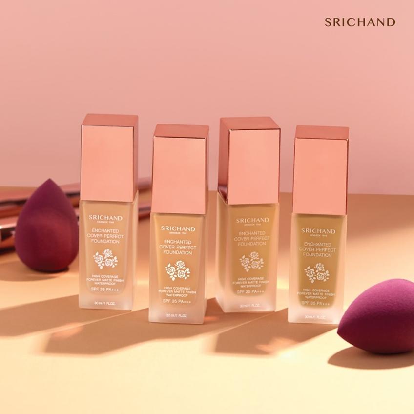 เครื่องสำอางน่าซื้อ เดือนสิงหาคม 2019 : SRICHAND Enchanted Cover Perfect Foundation