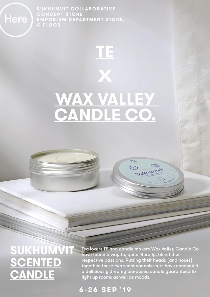 SUKHUMVIT COLLABORATIVE COLLECTION ไอเดียสุดครีเอตของเอ็มโพเรียมและพาร์ทเนอร์สุดคูลย่านสุขุมวิท TE X Wax Valley Candle Co.