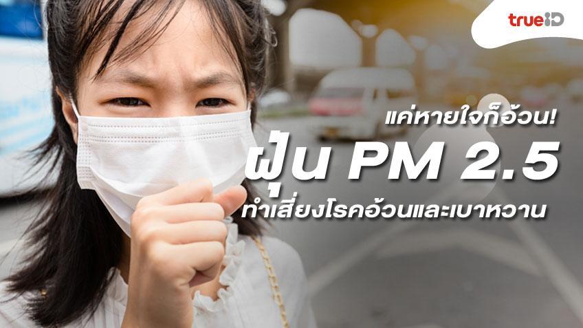 แค่หายใจก็อ้วน! 3 เหตุผล ฝุ่น PM 2.5 อันตราย เสี่ยงเกิดโรคอ้วนและเบาหวาน