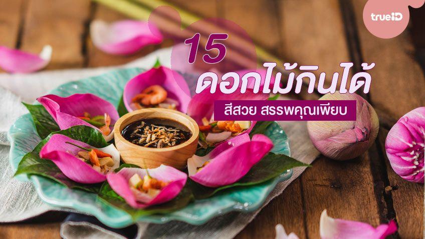 15 ดอกไม้กินได้ สีสวย แต่งจานได้ ทำอาหารก็ดี สรรพคุณเพียบ!