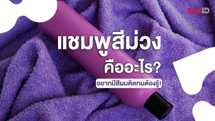 แชมพูสีม่วงคืออะไร ทำไมจึงเหมาะสำหรับผมทำสี อยากมีสีผมติดทนต้องรู้!